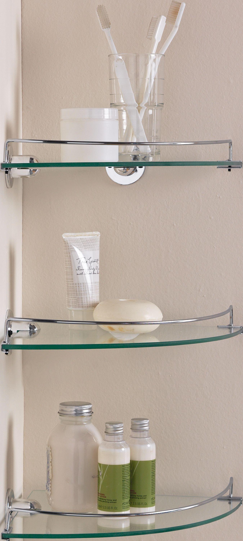bathroom corner shelves home glass corner shelves - pack of 3833/1434 FRZIEHF