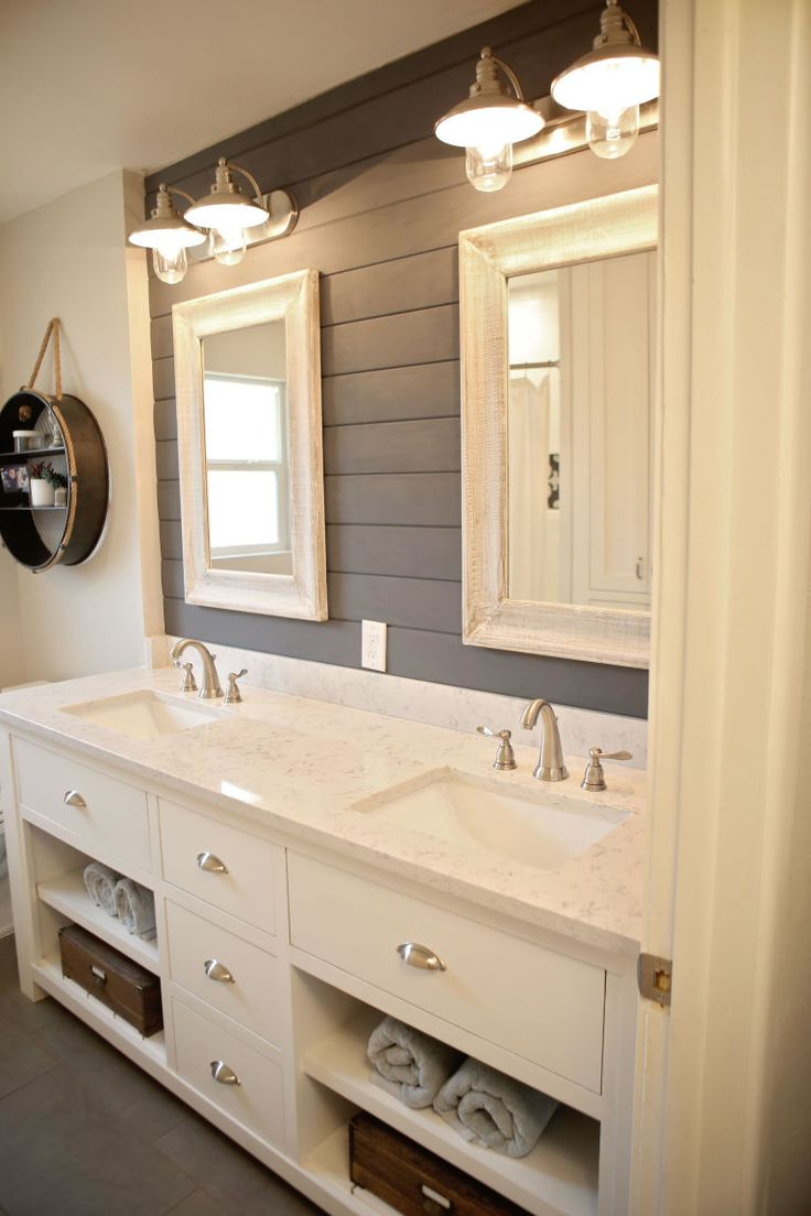 bathroom makeovers this bathroom makeover will convince you to embrace shiplap UJGXAME