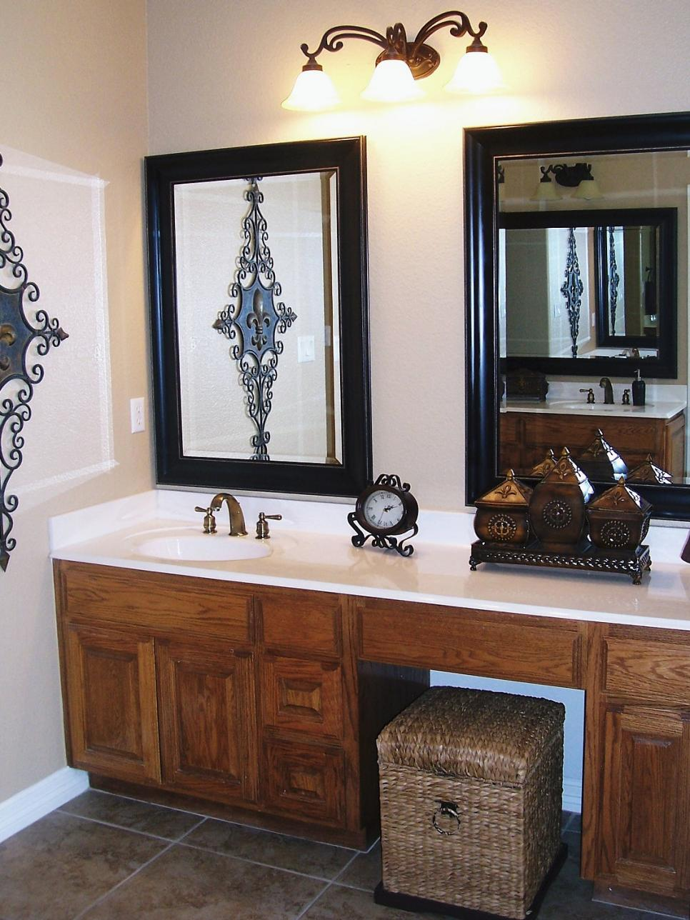 bathroom mirror ideas 10 beautiful bathroom mirrors | hgtv LOBHGTV