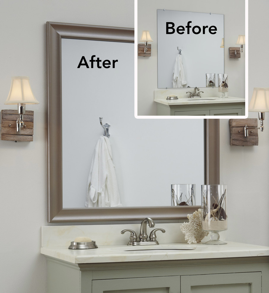 bathroom mirror ideas 10 diy ideas for how to frame that basic bathroom mirror likewise gallery DPXISMB