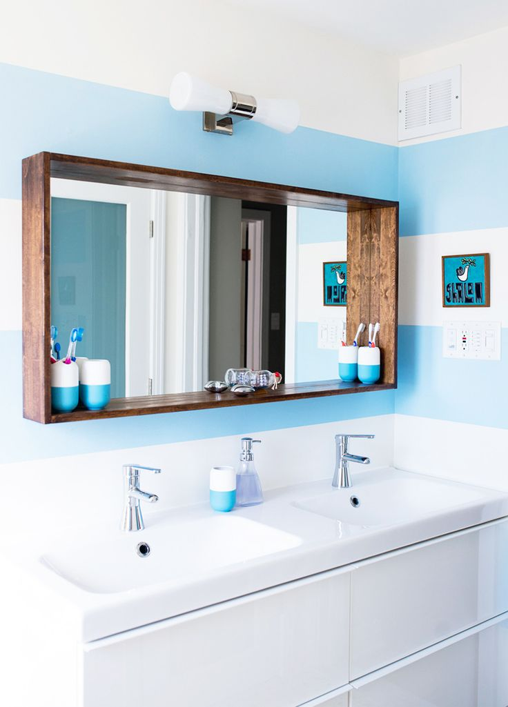 bathroom mirror ideas before u0026 after: a big sea of bright | design*sponge ROBLPOO