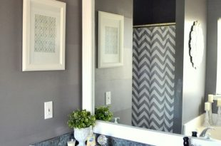 bathroom mirror ideas how to frame out that builder basic bathroom mirror (for $20 or less!) IZWOYYY