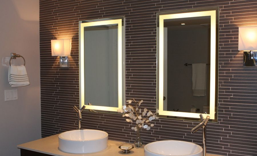 bathroom mirror lights home decorating trends - homedit HUPJLWJ