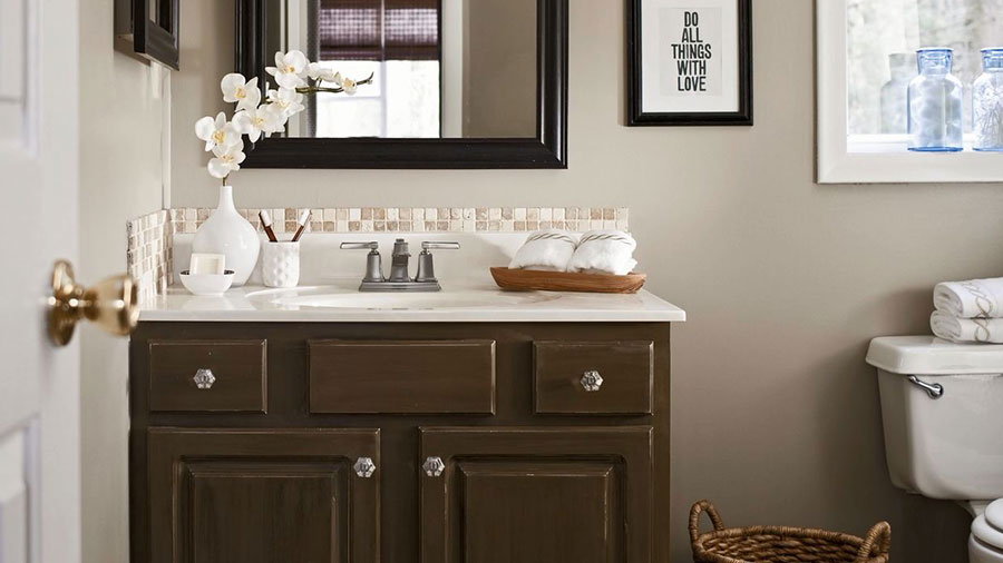 bathroom remodeling ideas small bathroom makeover on a $500 budget ZWJOETC