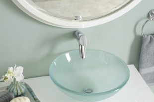 bathroom sink glass sink WUAVRJQ
