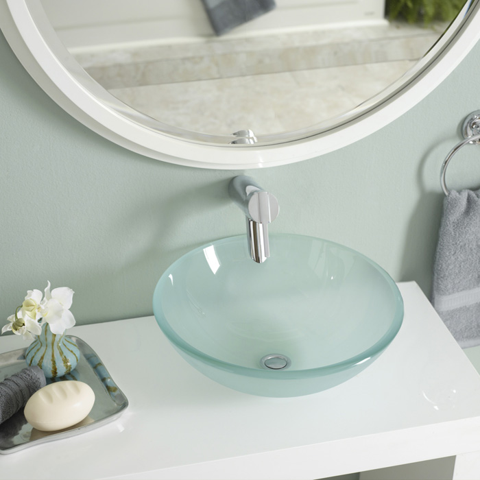 Jazz up the décor with bathroom sink