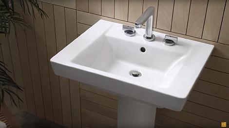 bathroom sink video:luxury pedestal sinks by american standard CGDGDHS