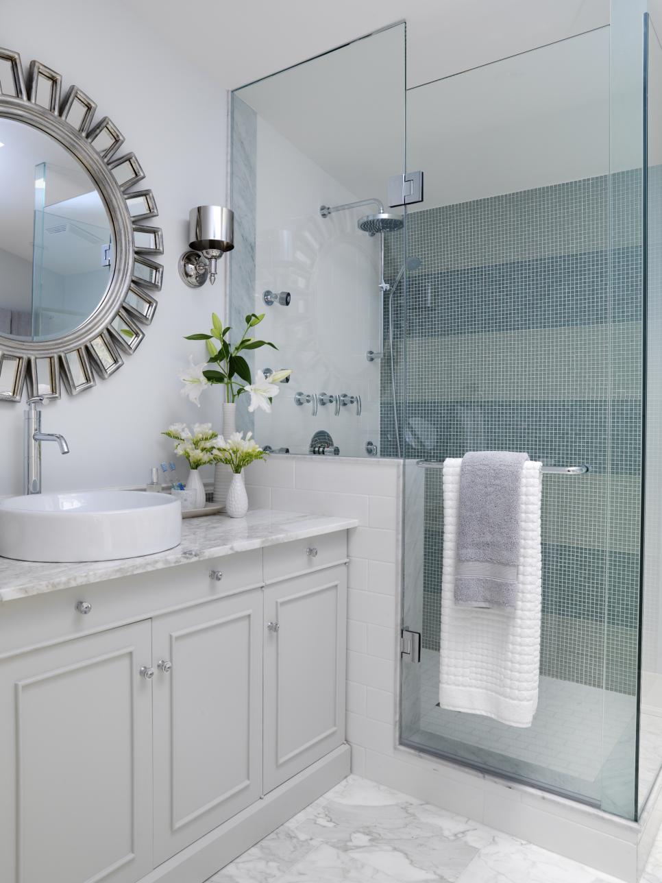 bathroom tiles 15 simply chic bathroom tile design ideas   hgtv IJQWGYK