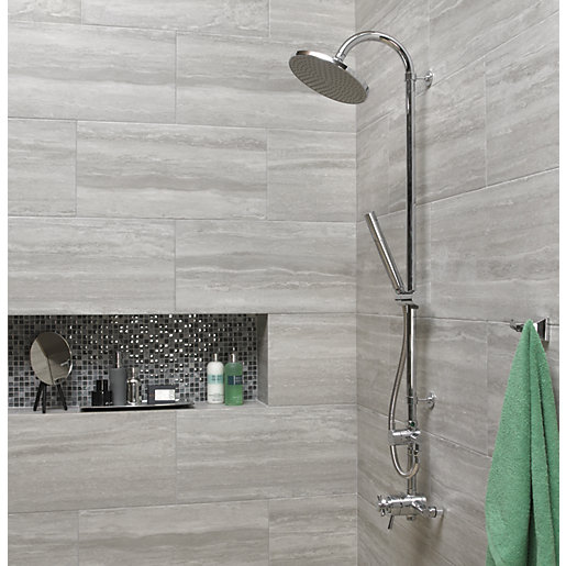 bathroom tiles wickes everest stone porcelain tile 600 x 300mm XQZLGSW