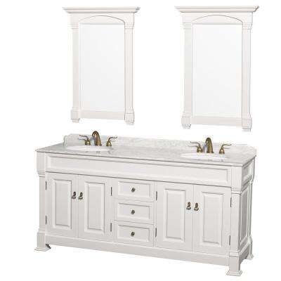 bathroom vanities with tops double vanity in white with marble vanity top in carrara white with UDQBIDR