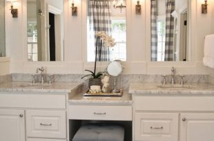 bathroom vanity ideas live beautifully: center hall colonial | master bath vanity and sinks. BXLFAQD