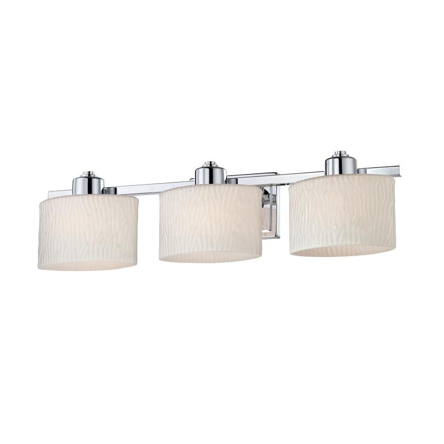bathroom vanity lights allen + roth grayson 3-light 6.5-in polished chrome oval vanity light KDJCFBO