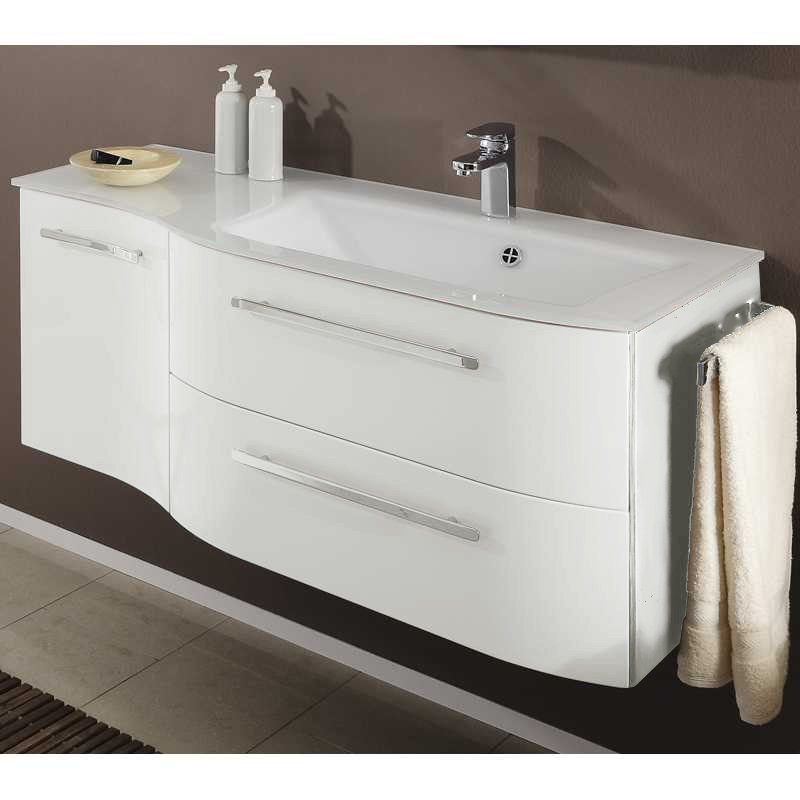bathroom vanity units from german specialists pelipal, this contea 2 draw wall hung vanity unit ICSQNKR