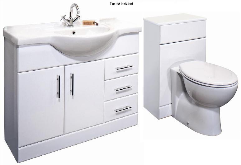 bathroom vanity units premier classic 1050mm bathroom vanity unit u0026 wc unit btw toilet 1550mm BIMPWSC