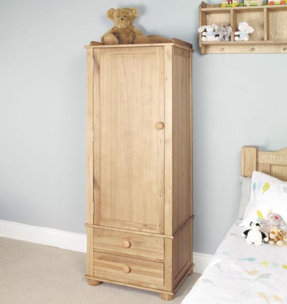 baumhaus amelie oak childrens wardrobe - single CLQWCMT