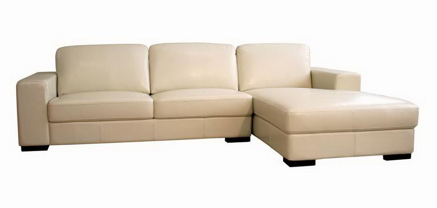 baxton studio cream leather sofa MRYKECV