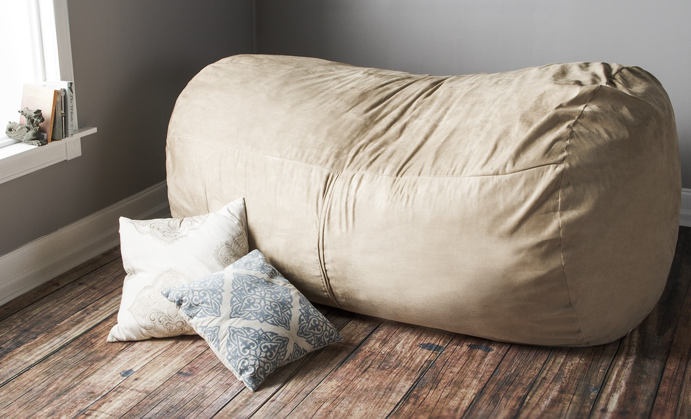 bean bag sofa ... sofa saxx 7u0027 giant bean bag lounger ... RWXWWKE