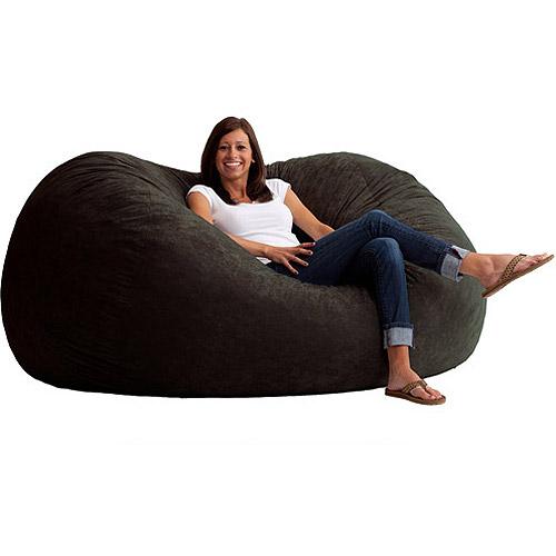 bean bag sofa xl 6u0027 fuf comfort suede bean bag, multiple colors YVFRJLJ