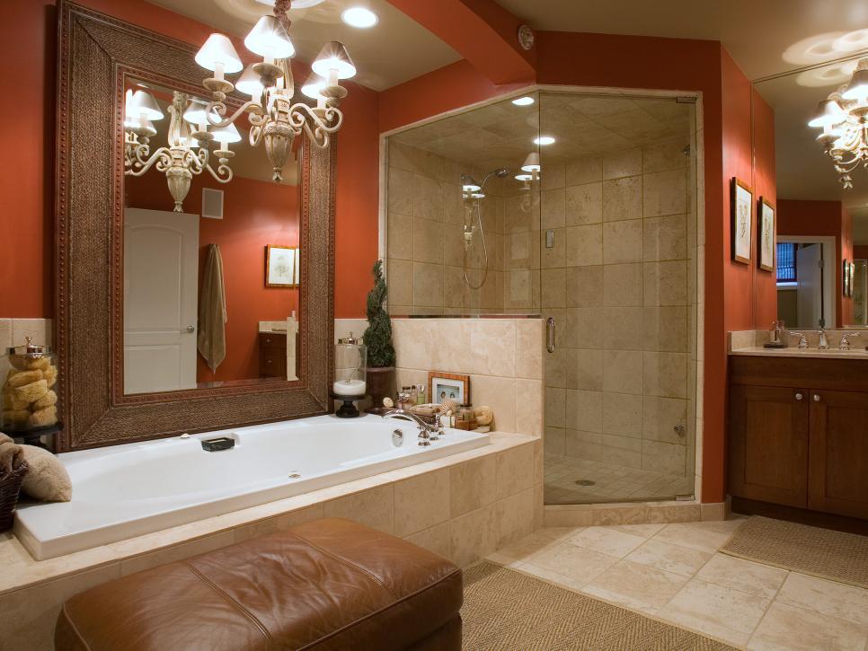 beautiful bathroom color schemes   hgtv LVYFCIO