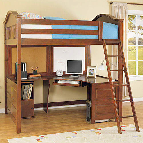 bed desk whalen furniture 3 in 1 loft bed, desk, and cube - loft bed AVUVSZN