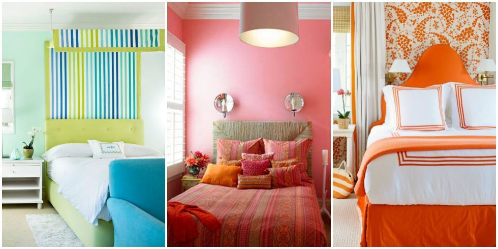 bedroom colors 60 colorful bedrooms that will make you wake up happier BCNQGYK