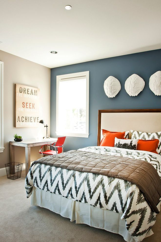 bedroom colors neutrals with a pop of color! love this! flexible decor. the best bedroom YTGNUVR