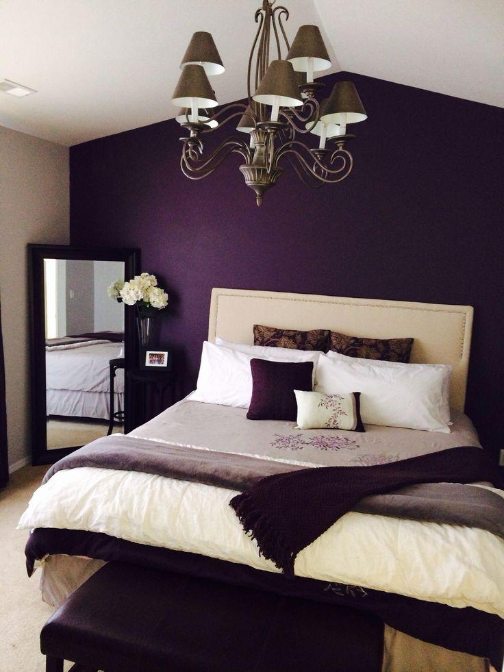 bedroom colors purple HPGQSXL
