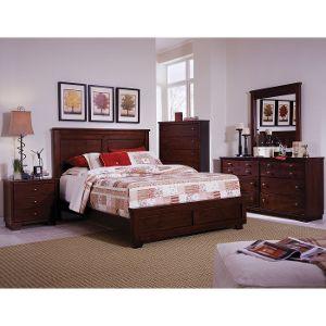bedroom furniture sets ... espresso brown contemporary 6-piece full bedroom set - diego XCRLBKP