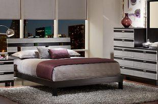 bedroom furniture sets gardenia silver 5 pc queen platform bedroom UEHPBQJ