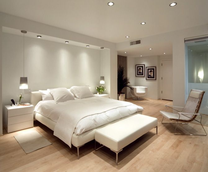 bedroom lighting ideas love the pendant lights. the outcrop for the bed would look lovely encased BTBOPCQ