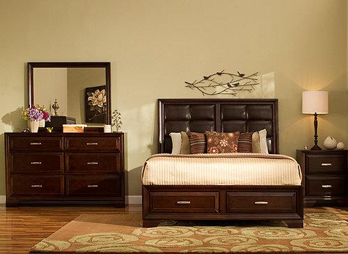 bedroom sets queen platform bedroom set w/ storage bed VQCURJE