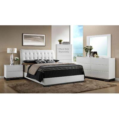bedroom sets white 6-piece queen bedroom set - avery TSMORVQ