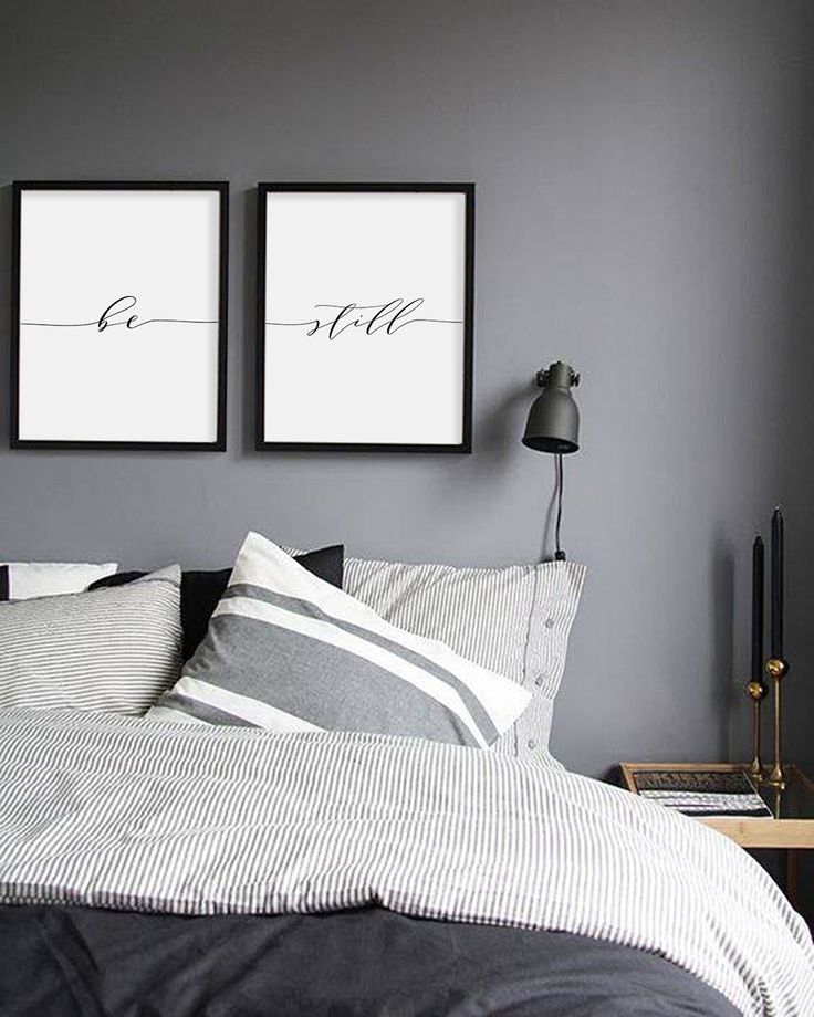 bedroom wall art be still print, minimalist typography art, bedroom print, be still poster  yoga SOZSHFI
