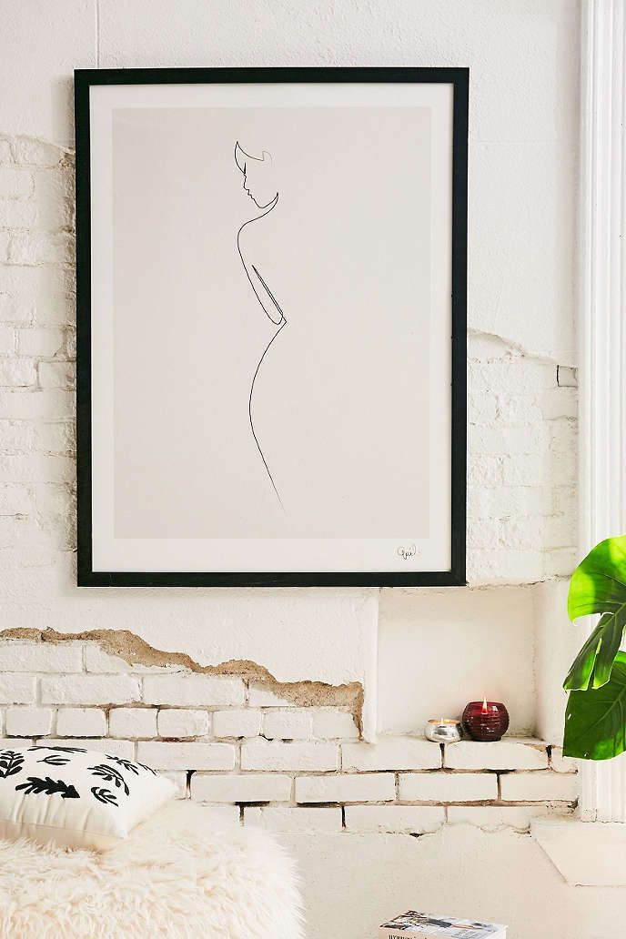 bedroom wall art quibe one line nude art print WRILEIS