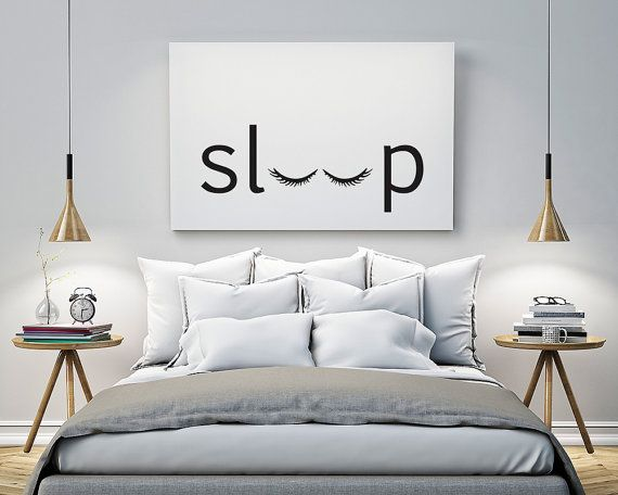 bedroom wall art sleep - bedroom - printable poster - typography print black u0026 white wall LSUMJCK