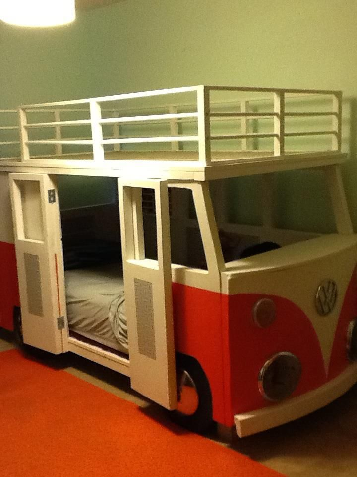 beds for kids i built this for dane, our 3 year old. vw bus bunk bed SBBCJCU