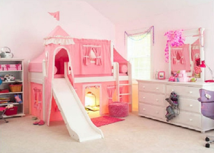 beds for kids pink girly twin castle bunk bed for kids interior design - giesendesign FPEVDVB