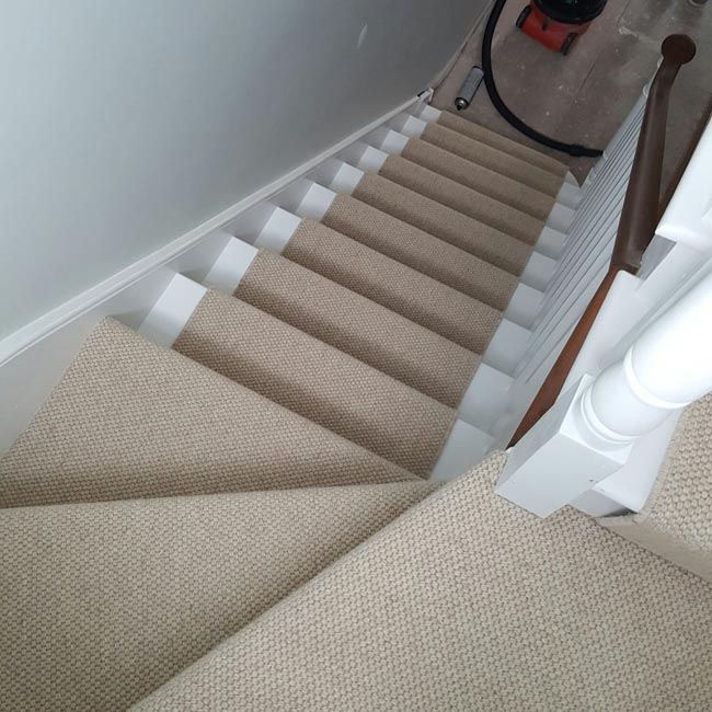 beige wool carpet to stairs installed by us WWDRNSU