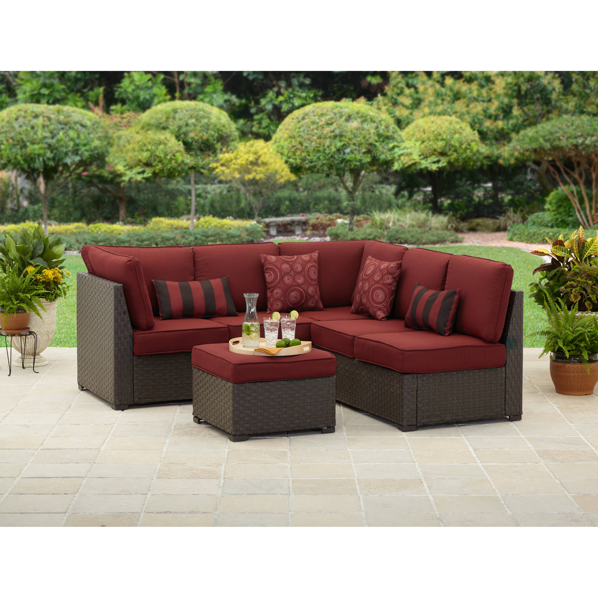 better homes and gardens rush valley 3-piece outdoor sectional sofa set,  seats JFVLFAN