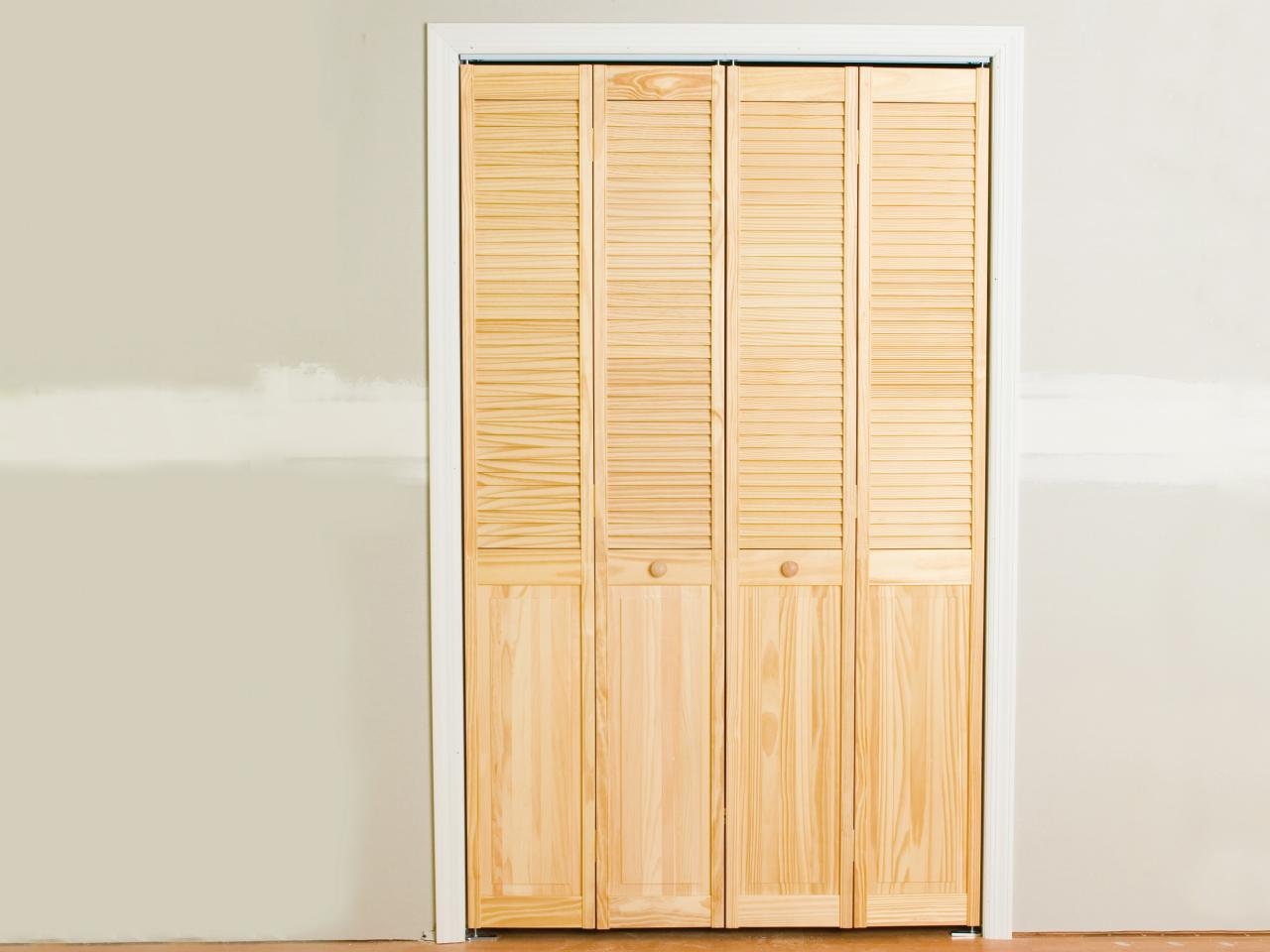 Bi fold closet door finished bi fold door is space saver JFVZEEA