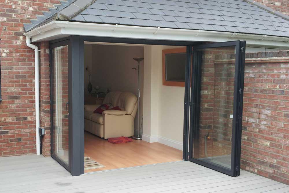 bi folding doors sunflex sf55 bi-folding door - two panel opening QZGPBVI