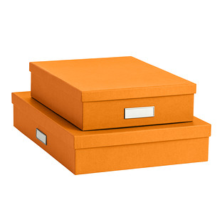 bigso orange stockholm office storage boxes QLMOGBV