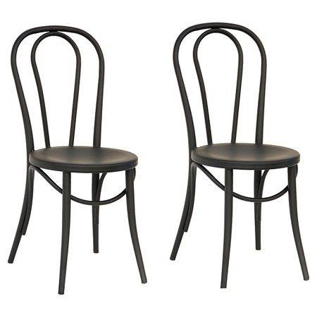 bistro chairs emery metal bistro chair (set of 2) - threshold™ LHVHGNE