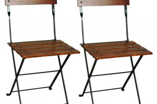 bistro chairs european folding chestnut wood side bistro chair, set of 2 OZKRNFC
