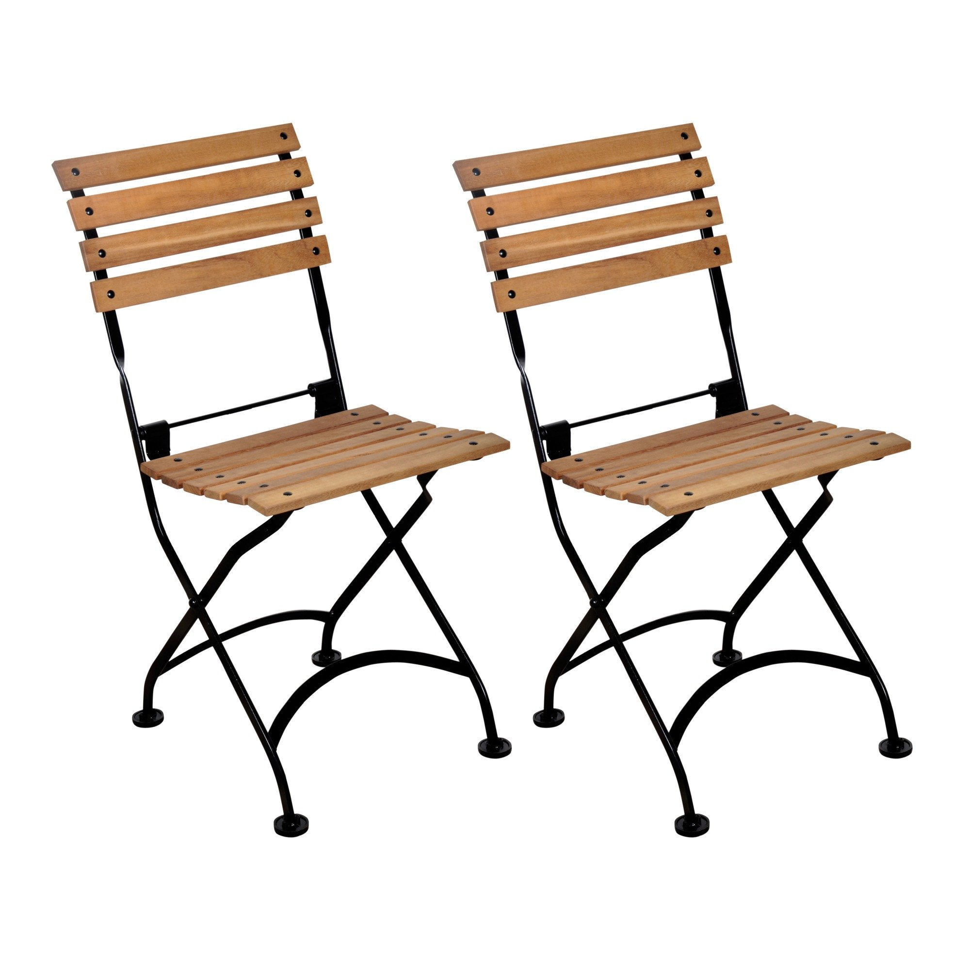 bistro chairs european folding wood bistro chair, set of 2 VYOBRQA