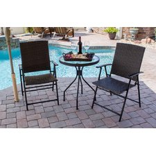 bistro patio set gretchen patio wicker 3 piece bistro set LUAJYEI