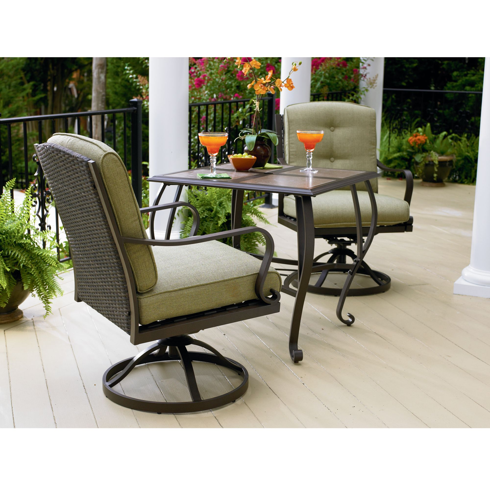 bistro patio set la z boy 3 piece bistro set: make relaxation a priority with sears KVOWPTD