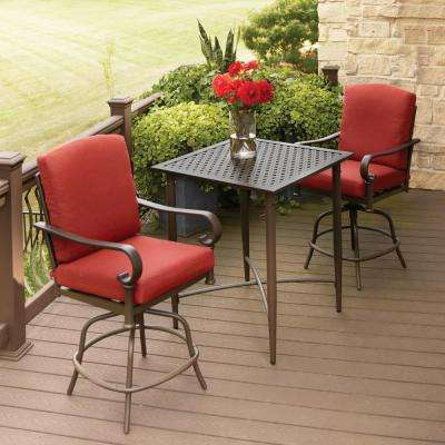 bistro patio set oak ... IWVHRQO