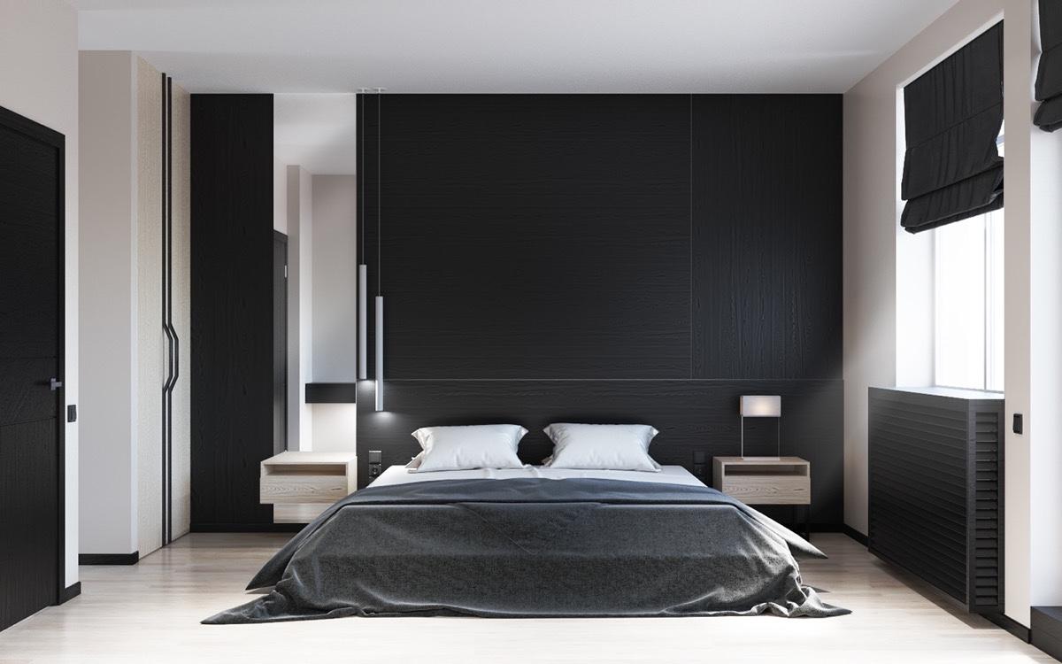 black and white bedroom 2 |; visualizer: kriss maksymchuk UEYNAKH