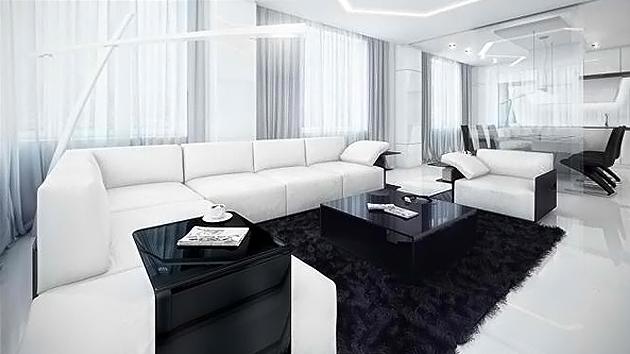 black and white living room 20 modern contemporary black and white living rooms | home design lover NLKERCO